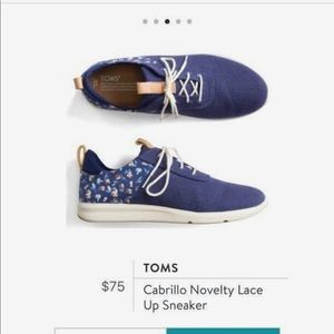Toms Carrillo Novelty Lace Up Sneaker